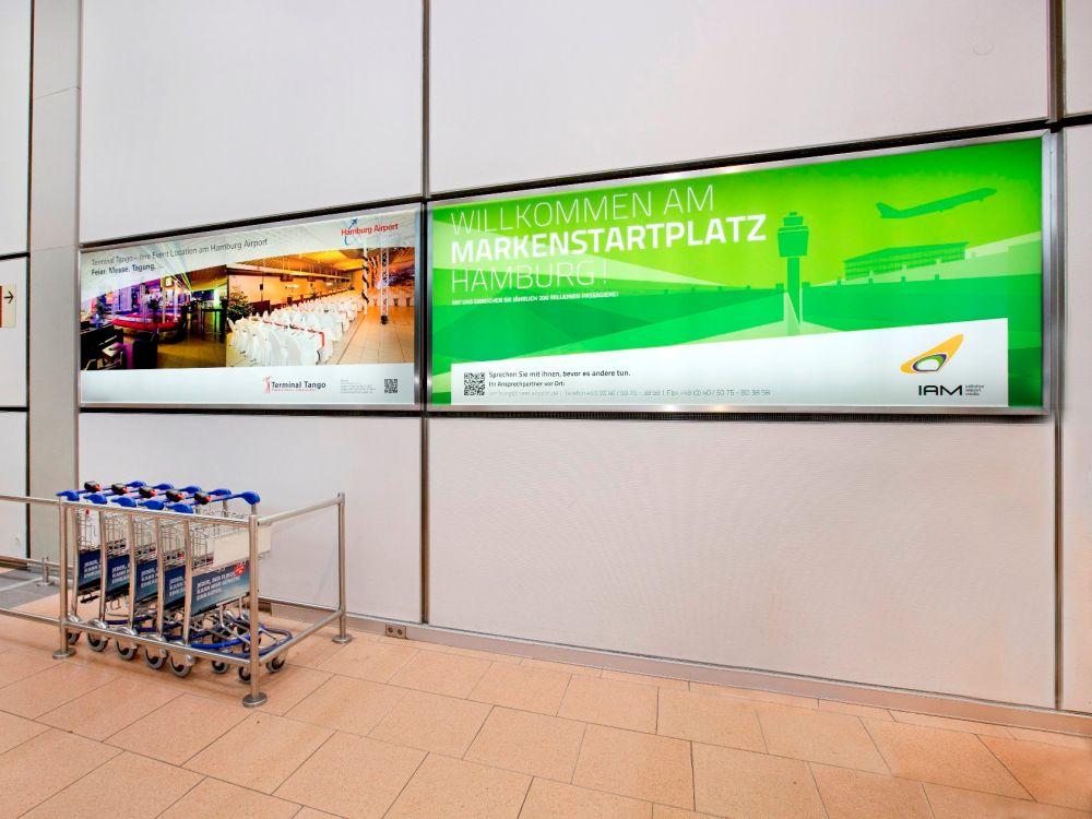 """""""Markenstartplatz"""" - die IAM wirbt seit September 2013 für sich selbst (Foto: Initiative Airport Media)"""