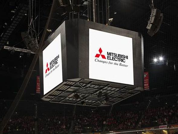 Installation von Mitsubishi Electric in der Kölner Lanxess-Arena (Foto: Mitsubishi Electric)
