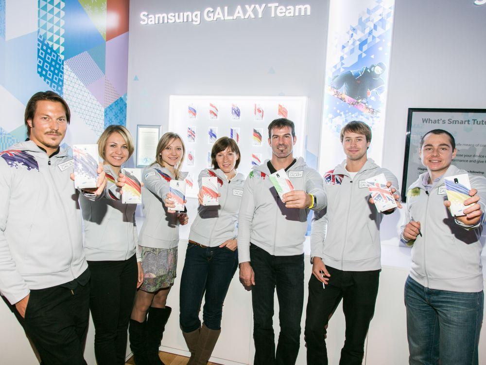 Das Samsung GALAXY Team berichtet für Spotbegeisterte rund um die Winterolympiade (Foto: Samsung)