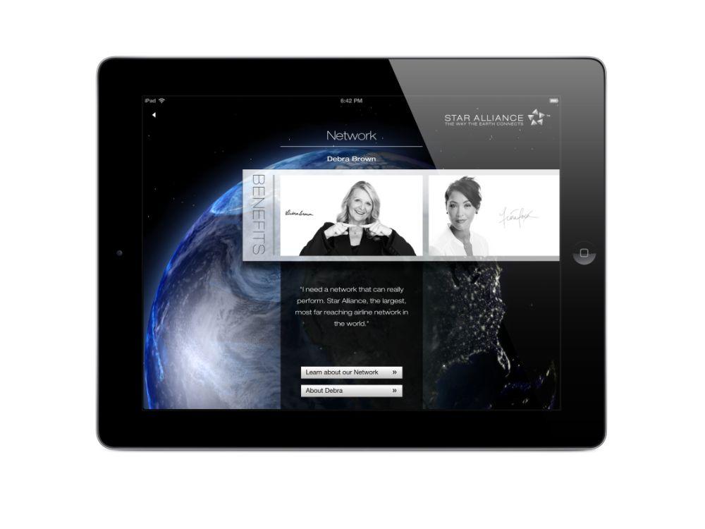 Mobiler Begleiter: iPad-App für die Star Alliance wurde ausgezeichnet (Foto: Sapient Nitro)