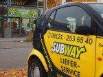 Aubway Poing Außen mit Auto Lieferservice