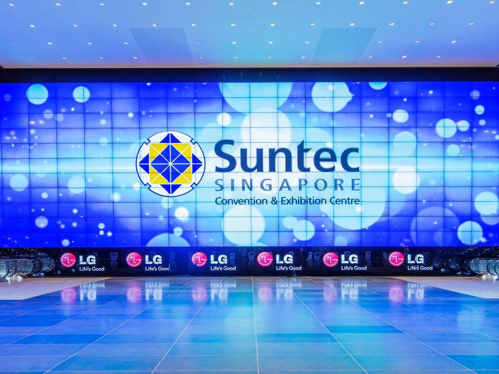 Breitwand in Singapur: Mega-Wall im Suntec Centre (Foto: Suntec Singapore)