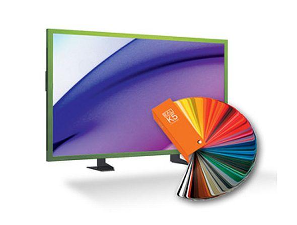 Der neue EYE-LCD-9000-LD ist in diversen RAL-Farben lieferbar (Foro: eyevis)