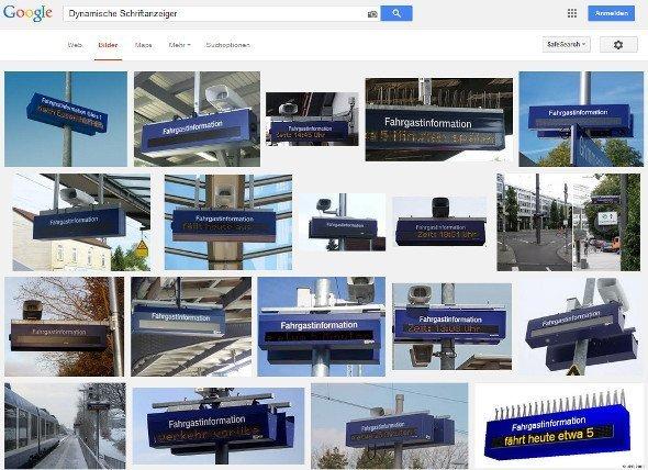 google screenshot: Dynamischer Schriftanzeiger