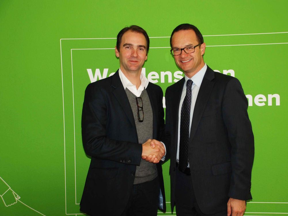 Exklusive Partner - Neo Media-CEO Christian Vaglio (links) und Jürg Rötheli, CEO von Clear Channel (rechts)