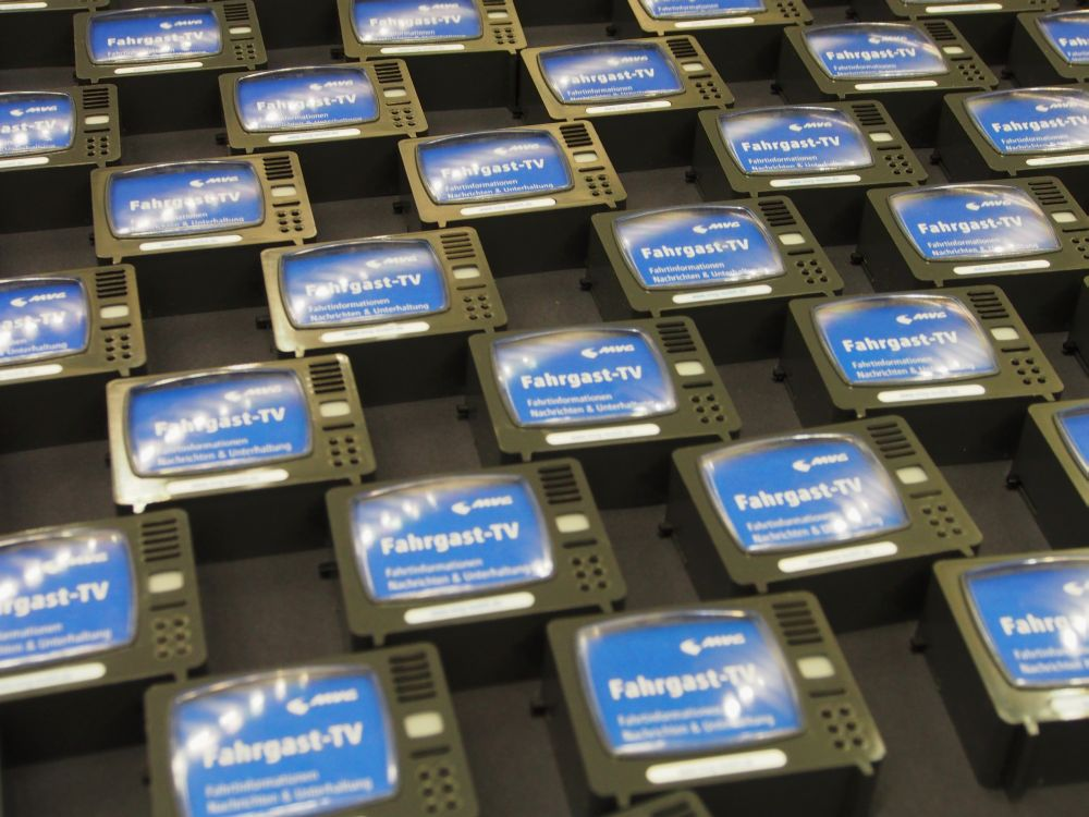 Insgesamt 3.000 Screens werden installiert - Fahrgast-TV in München (Foto. TK/ invidis.de)