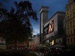 """Erste Kampagne am Leicester Square: Catching Fire, der zweite Teil der Verfilmung von """"Die Tribute von Panem"""" (Foto: NEC)"""