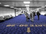 So könnten Flughäfen den intelligenten Bodenbelag nutzen (Foto: Philips)
