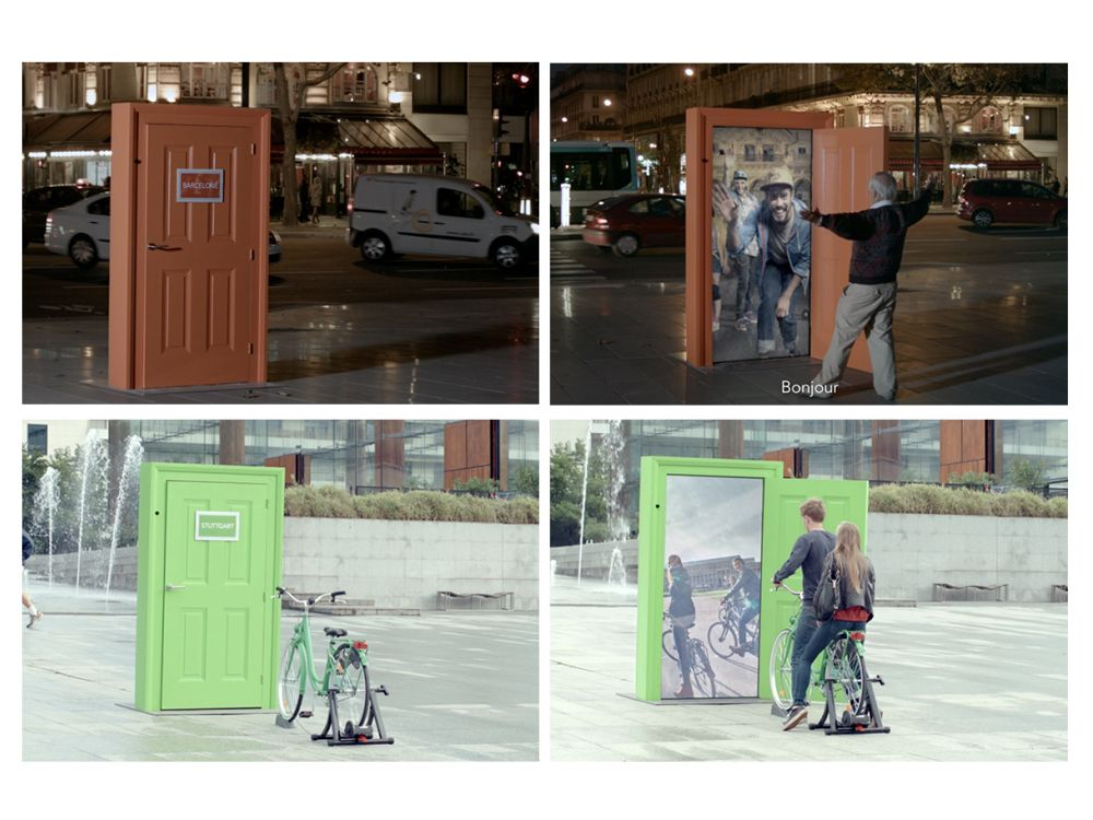 "Digitaler Türöffner: ""SNCF Europe""-Kampagne (Fotos: TBWA \ Paris; Montage: invidis.de)"