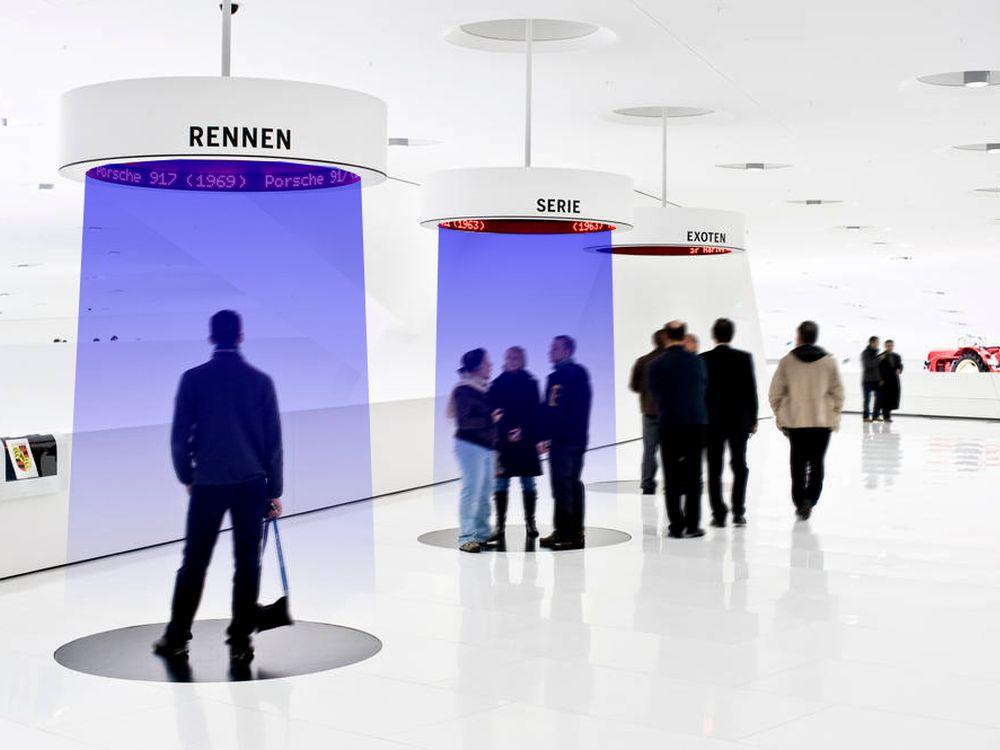 """Sounddusche von Sonus: Im Stuttgarter Porsche-Museum wurden """"audioFocus""""-Systeme verbaut (Foto: Sonus)"""