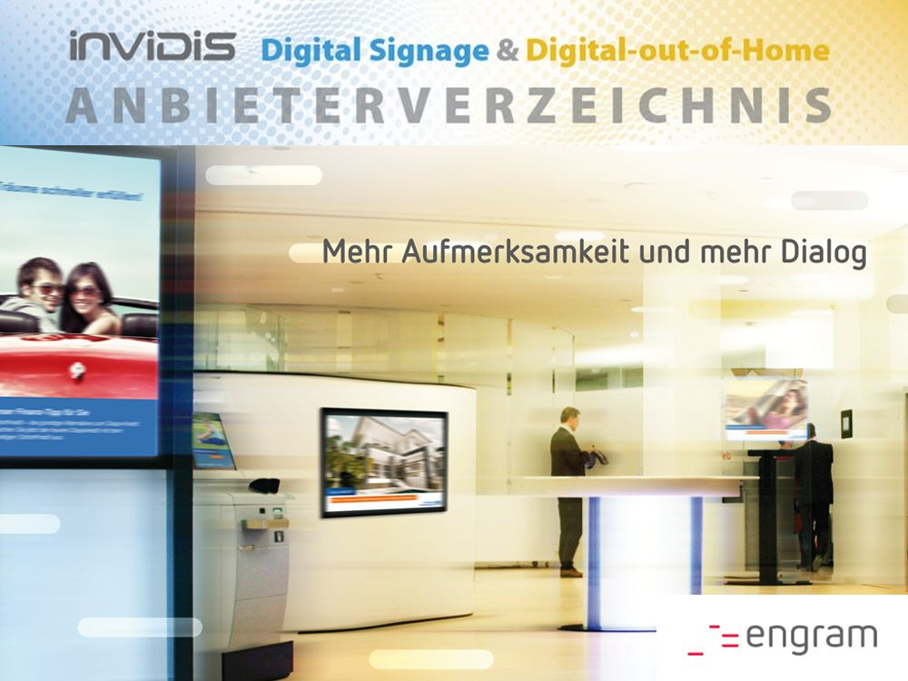 engram neu im invidis Digital Signage Anbieterverzeichnis