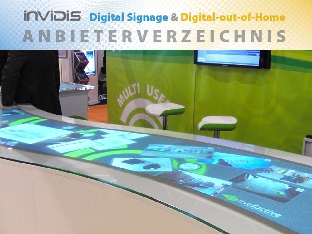 Neu im invidis Digital Signage Anbieterverzeichnis: eyefactive