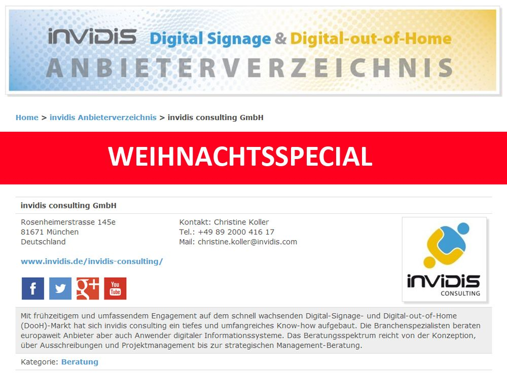 invidis Digital Signage Anbieterverzeichnis