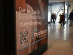 Über den QR-Code gelangen die Spender zum Flugrechner von myclimate (Foto: Köln Bonn Airport)