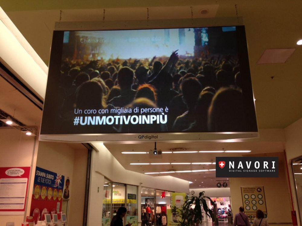 Navori QL im Einsatz in einer italienischen Shopping Mall (Foto: Navori)