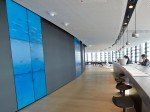 Auch  in der Skylounge im 18. Stock wurden Video Walls installiert (Foto: Vodafone)