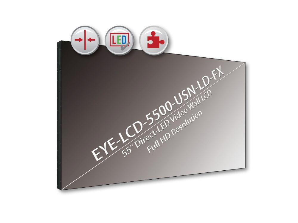 Einstiegsmodell der Serie: neuer 55-Zöller EYE-LCD-5500-USN-LD-FX (Grafik: eyevis)