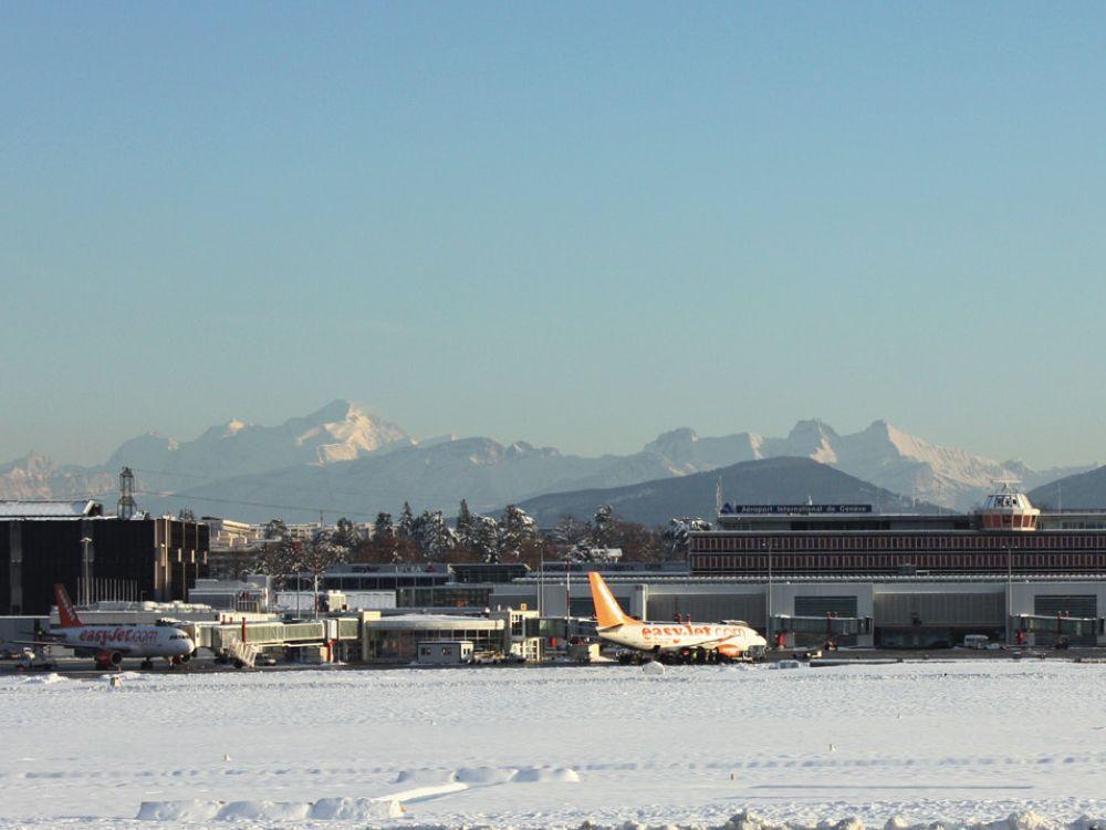 Winterstimmung am Flughafen Genf (Foto: Genève Aéroport)