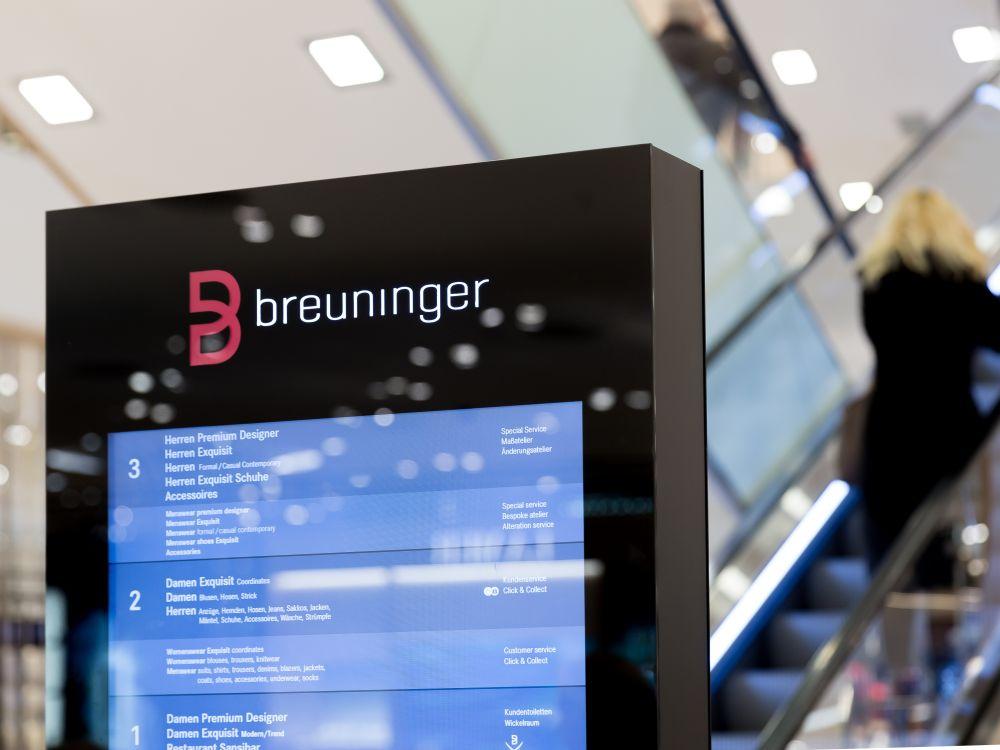Detail einer der 8 verbauten Stelen bei Breuninger in Düsseldorf (Foto: Vangenhassend)