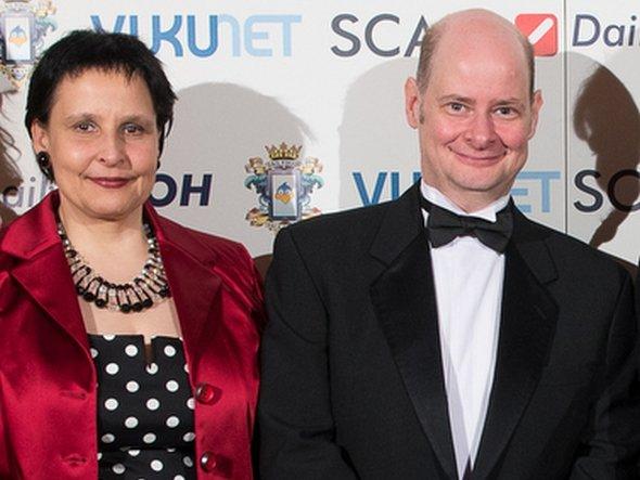 THOMAS DOCKTER MIT GESCHÄFTSPARTNERIN CAROLINE ZÖLLER (FOTO: DAILYDOOH)