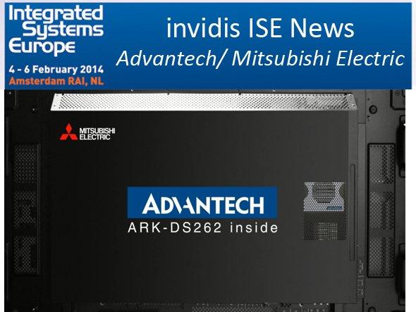 Advantechs ARK-Modell im OPS-Slot des Displays Mitsubishi Electric (Foto: Advantech; Montage invidis.de)