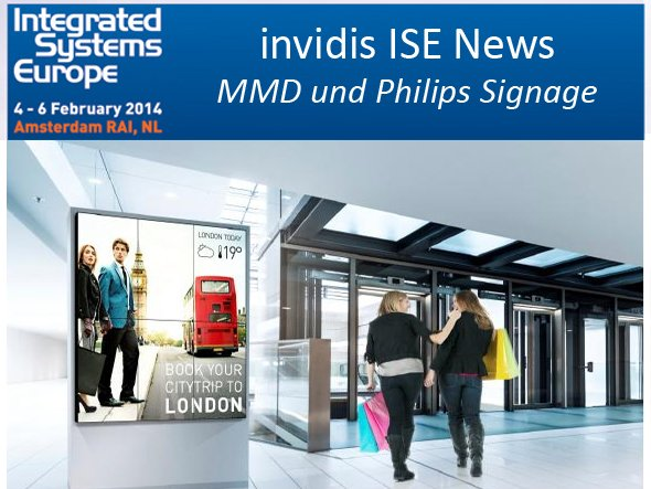 Philips Signage Solutions: Video Walls mit bis zu 150 Displays sind möglich (Foto: MMD/ Philips; Montage: invidis.de)