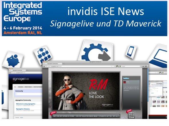 Kooperieren und stellen gemeinsam aus: TD Maverick und Signagelive (Foto: Signagelive; Montage: invidis.de)