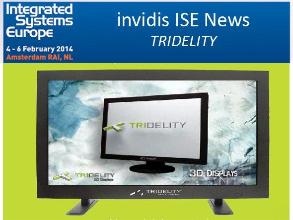 Video Walls mit nativem 12K - Weltpremiere von Tridelity auf der ISE (Foto: Tridelity; Montage: invidis.de)