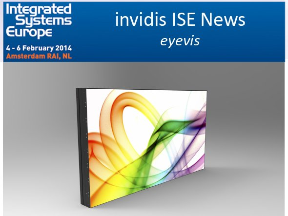 Das neue EYE-LCD-5500-XSN-LD von eyevis hat seine Premiere in Amsterdam (Foto: eyevis; Montage: invidis.de)
