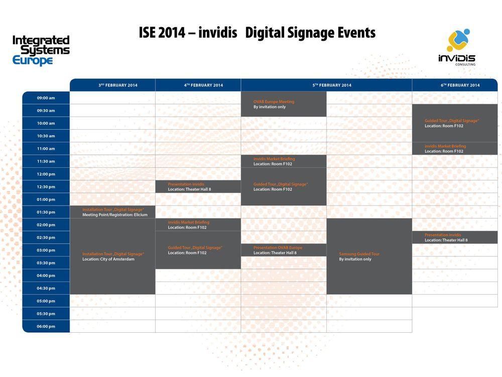 Das invidis Digital Signage-Programm auf der ISE 2014