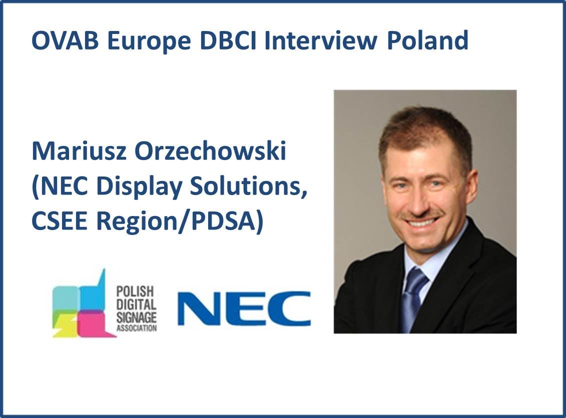 Mariusz Orzechowski (NEC Display Solutions, CSEE Region/PDSA)