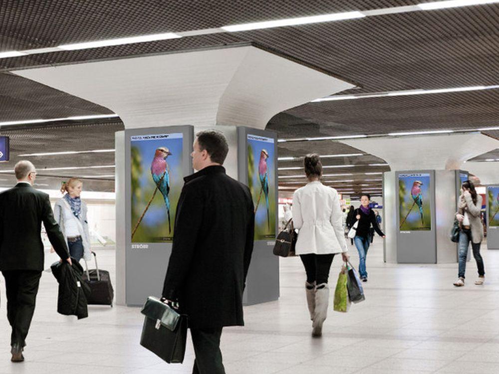 OC Station-Medien am Frankfurter Hbf (Foto: Infoscreen)