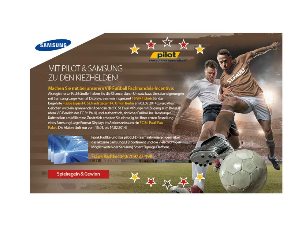 Die Aktion für Reseller von Samsung Large Format Displays läuft bis Mitte Februar 2014 (Grafik: Pilot Computerhandels GmbH)