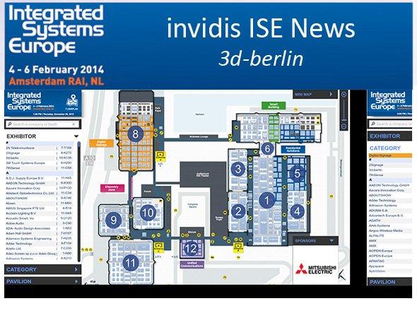 Mit 3d-berlin hat einer der ISE-Aussteller die Wegeleitung für die Fachbesucher übernommen (F: 3d-berlin; M: invidis.de)