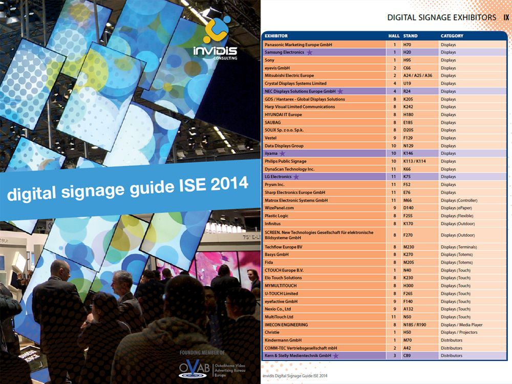 invidis Digital Signage Guide ISE 2014