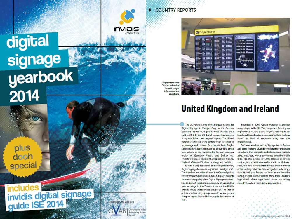 "New: the ""invidis digital signage yearbook 2014"""
