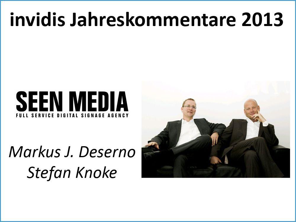 Seen Media, Stefan Knoke und Markus Deserno