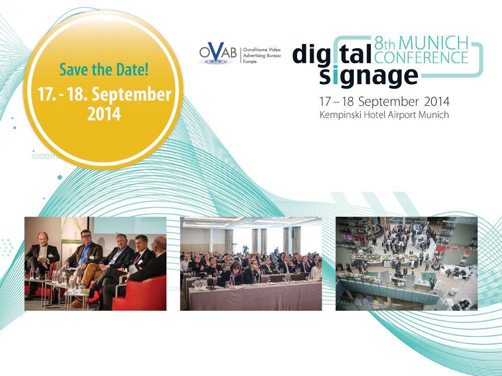 Am 17. und 18. September 2014 findet die nächste OVAB Digital Signage Conference statt