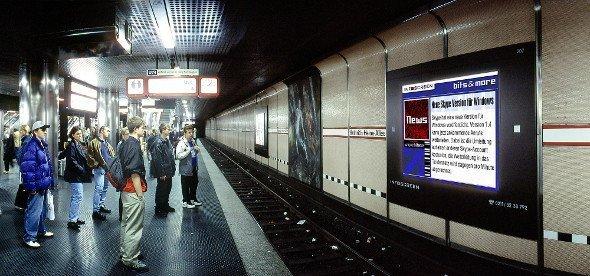 Infoscreen Anno 2005 - Düsseldorf Heinrich Heine Allee