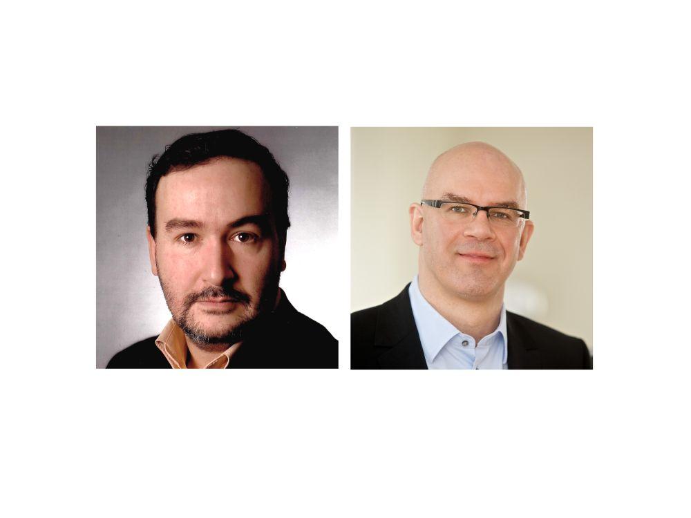 Daniel Abbou (links) ist jetzt Leiter Public Affairs; Michael Wehran verantwortet bis Frühjahr 2015 die Leitung der Unternehmenskommunikation (Fotos: Wall AG; Montage: invidis.de)