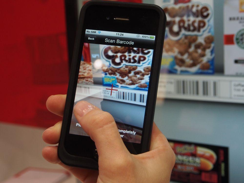 Payment via Smartphone-App am Toshiba-Stand (Foto: TK/ invidis.de)