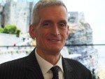 Frank Eschholz von Toshiba Euope  auf der ISE 2014 (Foto: TK/ invidis.de)
