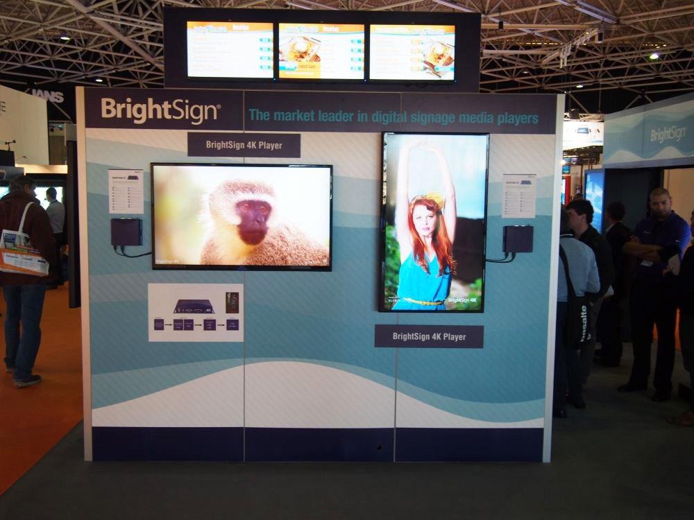 BrightSign auf der ISE: Halle 8, Stand N250