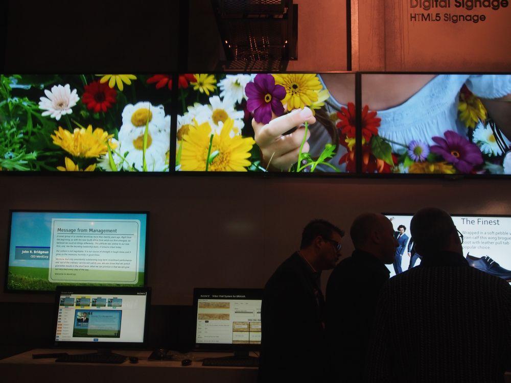 Sony zeigt seine Bravia Software-Lösung für Video Walls in der fertigen Version (Foto: TK/ invidis.de)