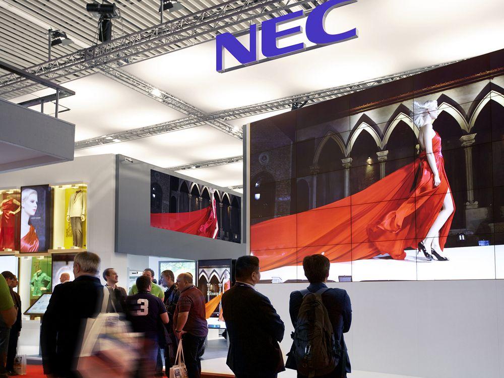 Beispiel für einen sehr gelungen Standbau (Bild: NEC)