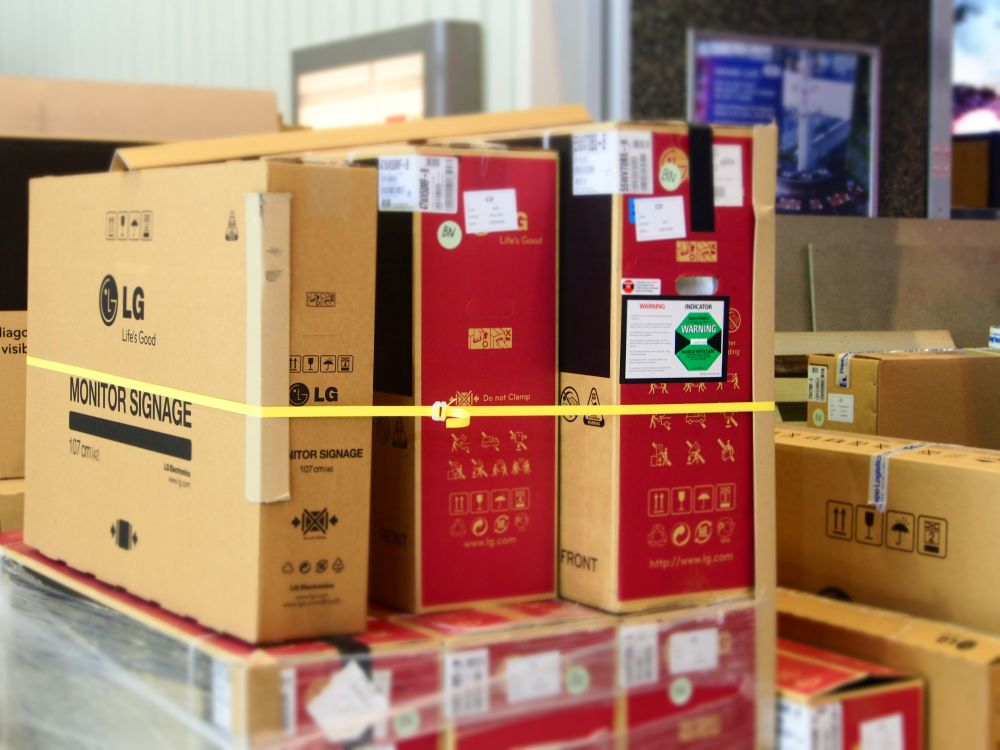 LG: Display-Kisten auf der ISE 2014 (Foto: TK/ invidis.de)
