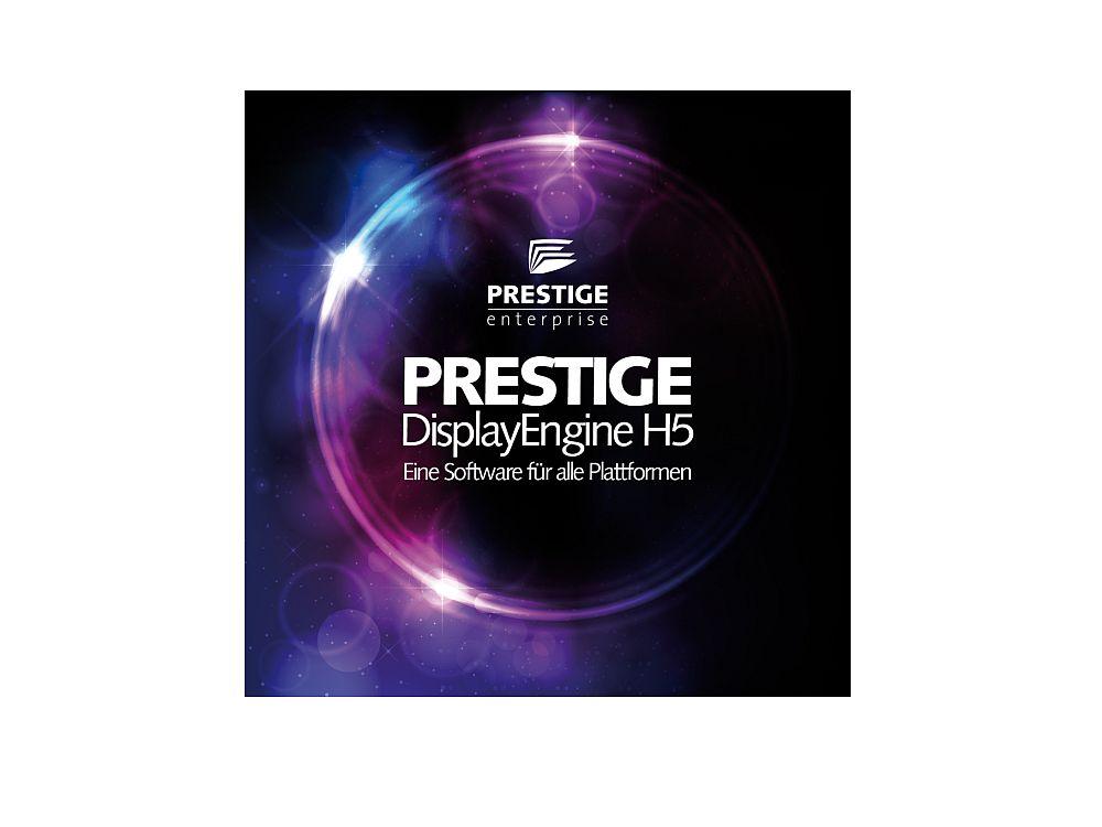 Alle relevanten Betriebssysteme werden unterstützt: Display Engine H5 der PRESTIGE Enterprise (Foto: Online Software AG.)