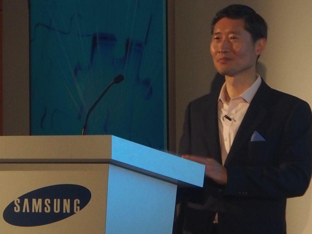 Sunny Lee - neuer Samsung Electronics Europe-Chef auf der ISE 2014 (Foto: TK/ invidis.de)