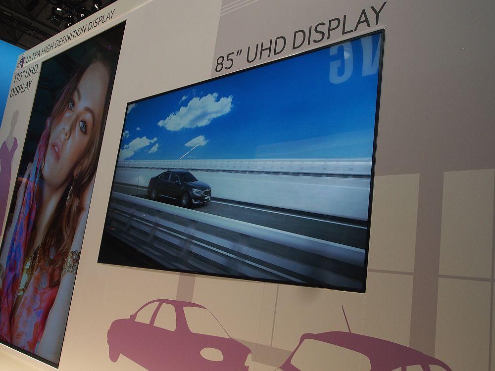 """Samsung zeigt auf der ISE 2014 Ultra HD-Displays in 84"""" und 110"""" Größe (Foto: TK/ invidis.de)"""