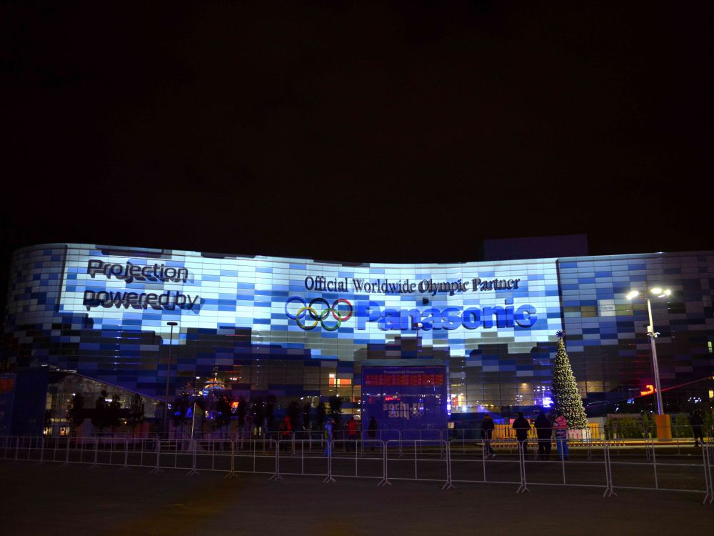 Winter-Olympiade 2014: Stadion in Sochi (Foto: Panasonic)